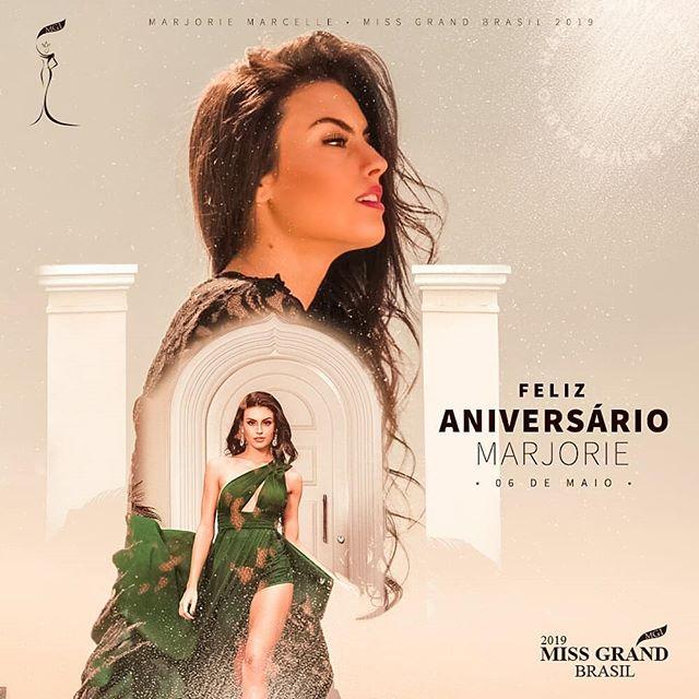 E quem está de aniversário hoje é a nossa rainha Marjorie Marcelle (@marjoriemarcelle), Miss Grand Brasil 2019. -  Miss, te desejamos muito sucesso e que todos seus sonhos se realize. Que você continue sendo essa menina de ouro e esse ser iluminado. Amamos você! ❤🙏🎉🎁🎂 -  #cnb #concursonacionaldebeleza #missbrasil #missgrandbrasil #missgrandinternational #missgrand #marjoriemarcelle #miss #beautyqueen #livitreinamento #dallonderhoteis #serragaucha #bentogoncalves #institutovocerj