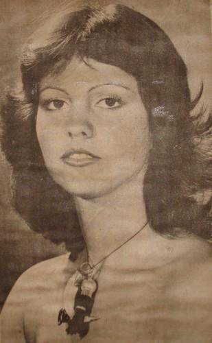 Angélica Moura Lins, Miss Fernando de Noronha 1974 (foto:  Passarela Cultural ).
