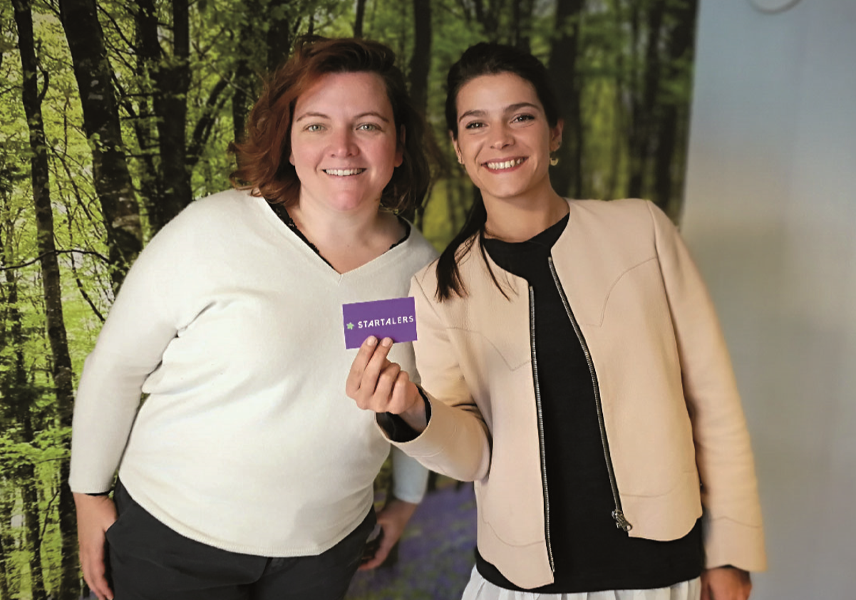 Gaelle Haag, CEO of Startalers (left) and Marie-Charlotte Renaux, Initio Consultant (right), when they met for the interview on 2018 Sept 27th