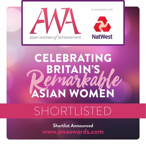 Excited to announce that I am a finalist for the  Asian Women of Achievement  Awards 2017 in the Arts & Culture category! The Awards, now in their 18th year, cut across a broad range of sectors in British life – from business and media to sport, culture and public service in order to celebrate and recognise the incredible work of Asian women in Britain.  Onwards and upwards!