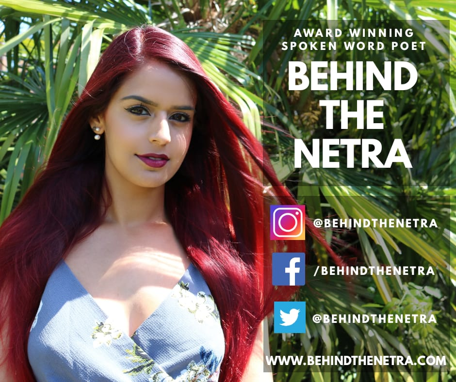 BEHIND THE NETRA IS BACK! 💥 After adventuring the world for twelve sensational months with my partner in crime, travelling across two continents and twenty six countries, I'm now back in my home town of London with NEW POEMS, NEW PERFORMANCES and NEW POWER! For bookings and enquiries head to www.behindthenetra.com/contact  💻