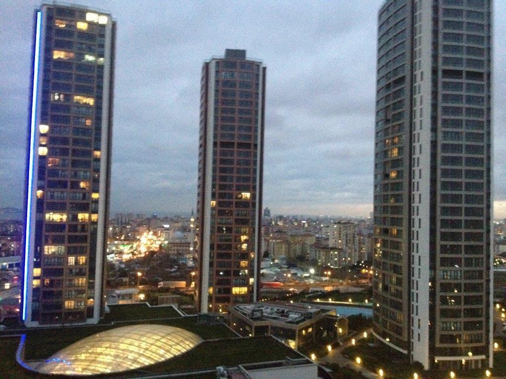 Die Aussicht aus dem Hotelzimmer