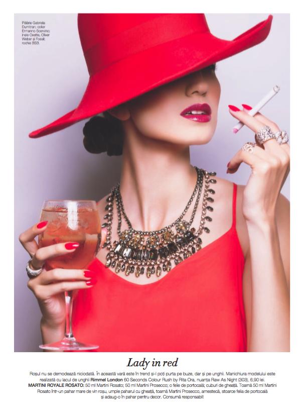 Fotograf: Tiberiu Arsene; Makeup: Irina Mihaita; Nails: Catalina Stoica; Styling: Irina Hartia; Model: Diana Popa; Beauty editor: Simona Prisacariu;