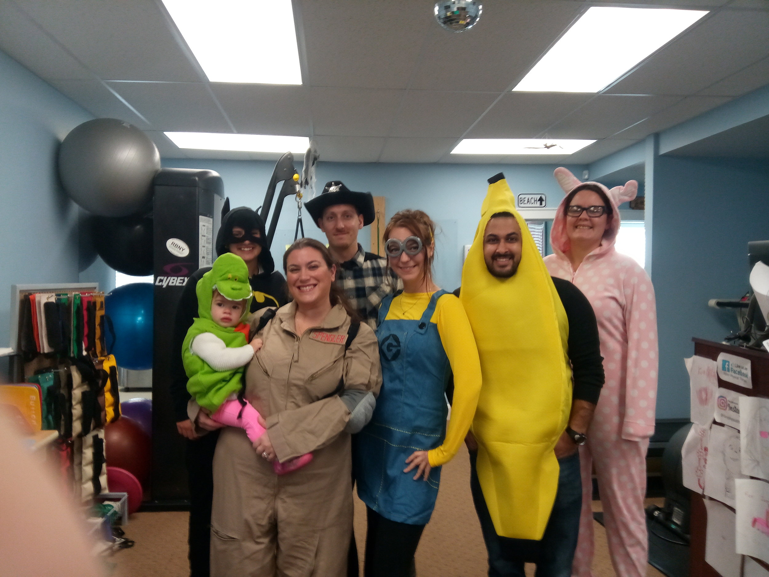 And here is some of our staff on Halloween 2017!