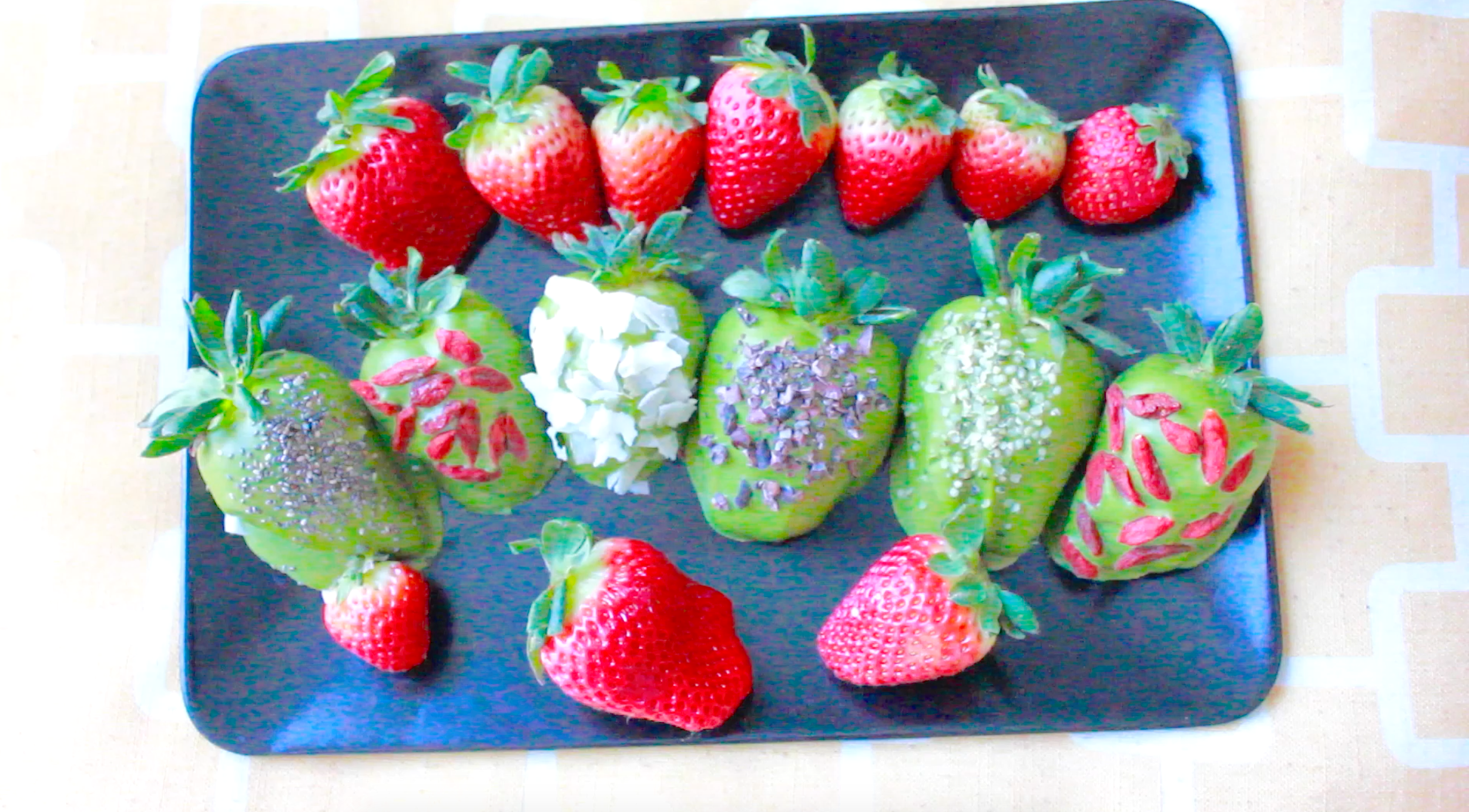 Matcha Dipped Strawberries by Charles Chen
