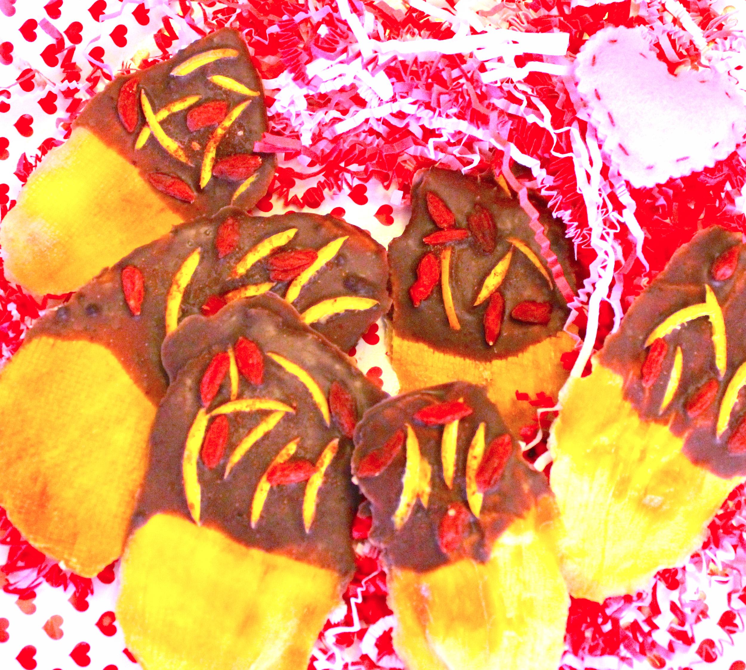 Chili Orange Chocolate Mangos