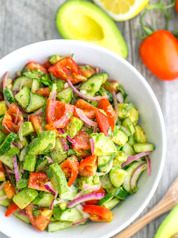Avocado Cucumber Salad by Chef Charles Chen