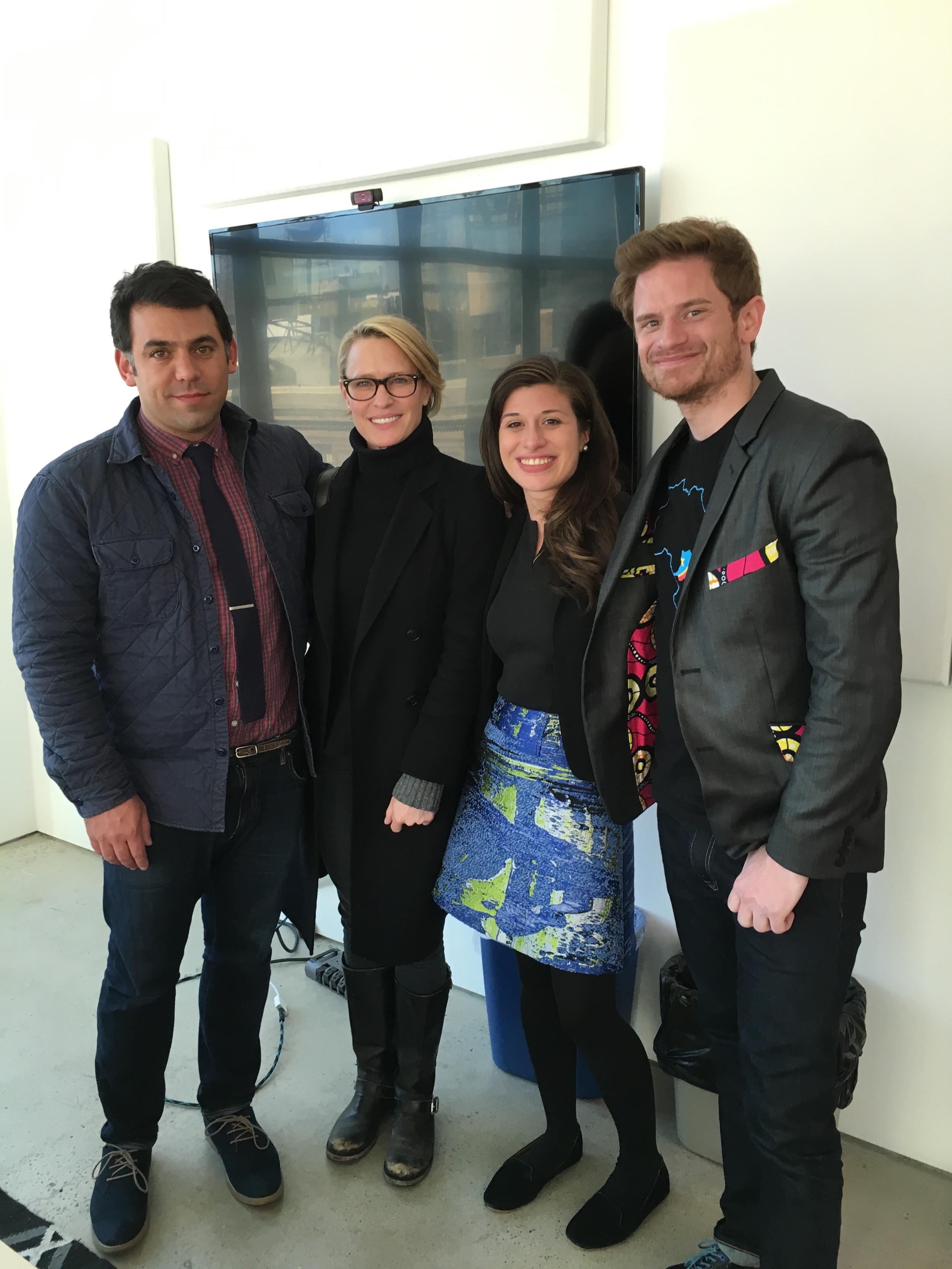 Final media visit at Mic's office