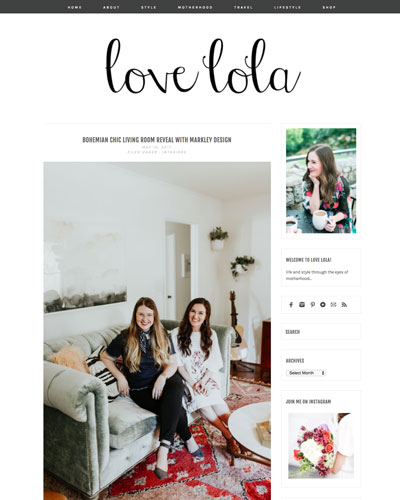 Love Lola    living room reveal