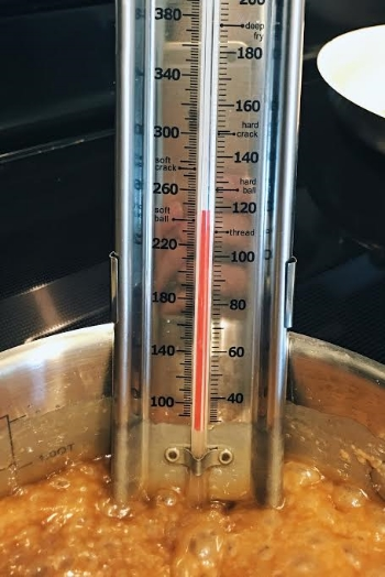Boil until you reach firm ball stage.