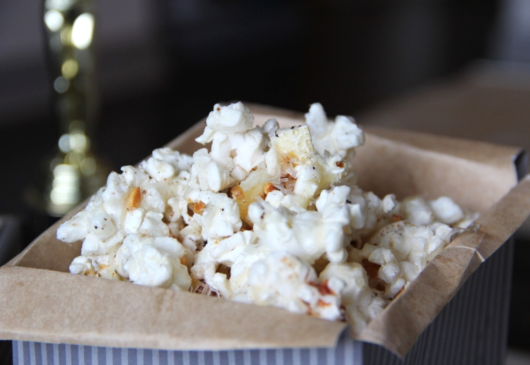Garlic, butter, parmesan, popcorn... yes, please!