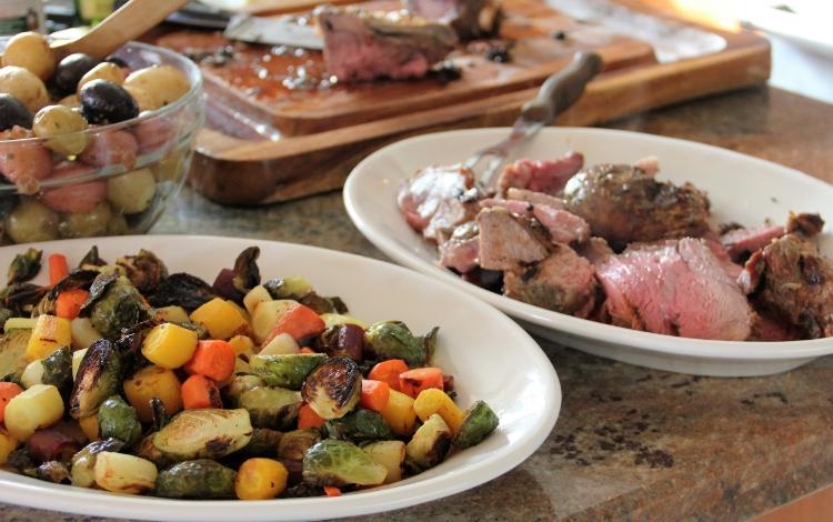 Easter Dinner... Lamb Shoulder, Roast Vegetables, Lemon Butter Potatoes