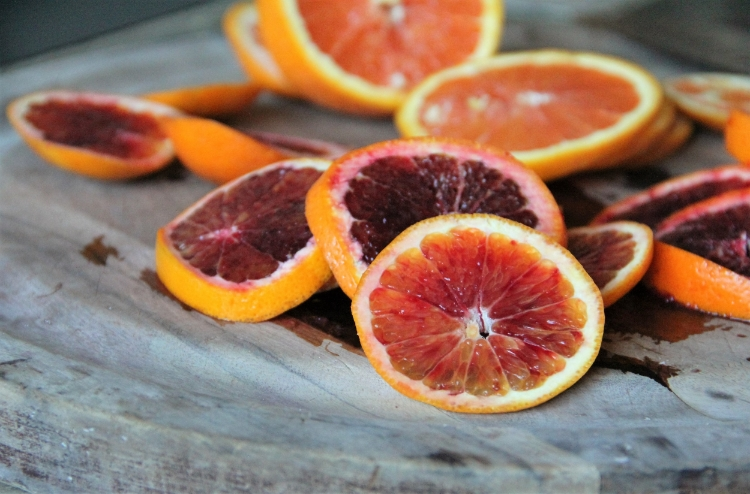 Blood Oranges... All sorts of pretty depth in the color of this fruit!