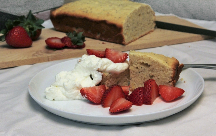 Strawberry Shortcake with Lemon Poppy Seed Cake and a healthy helping of whipped cream! A classic summer dessert!