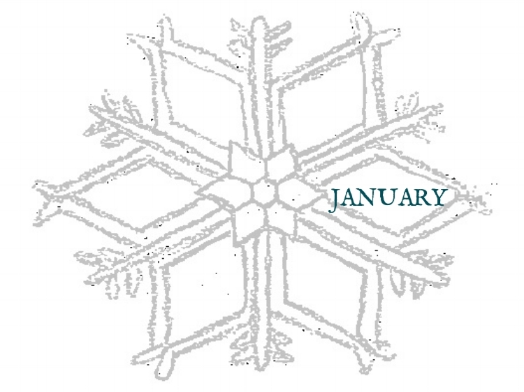 January Grocery List - Snowflake