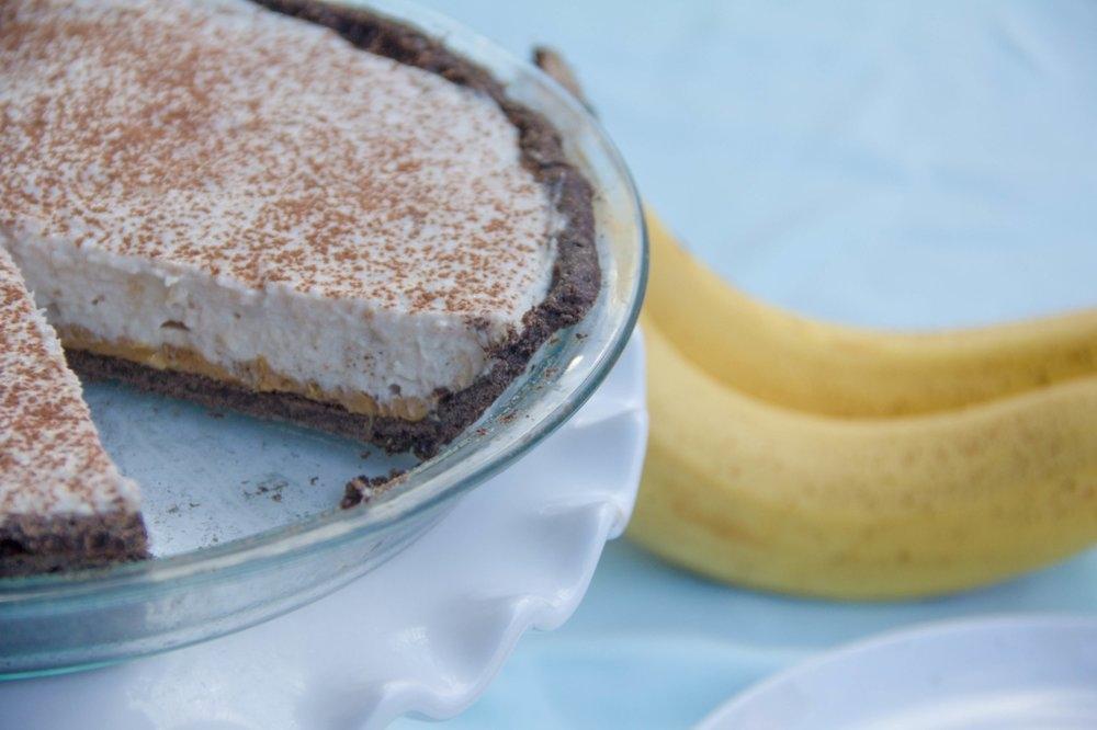 Greeek+Yogurt+Banana+Tart