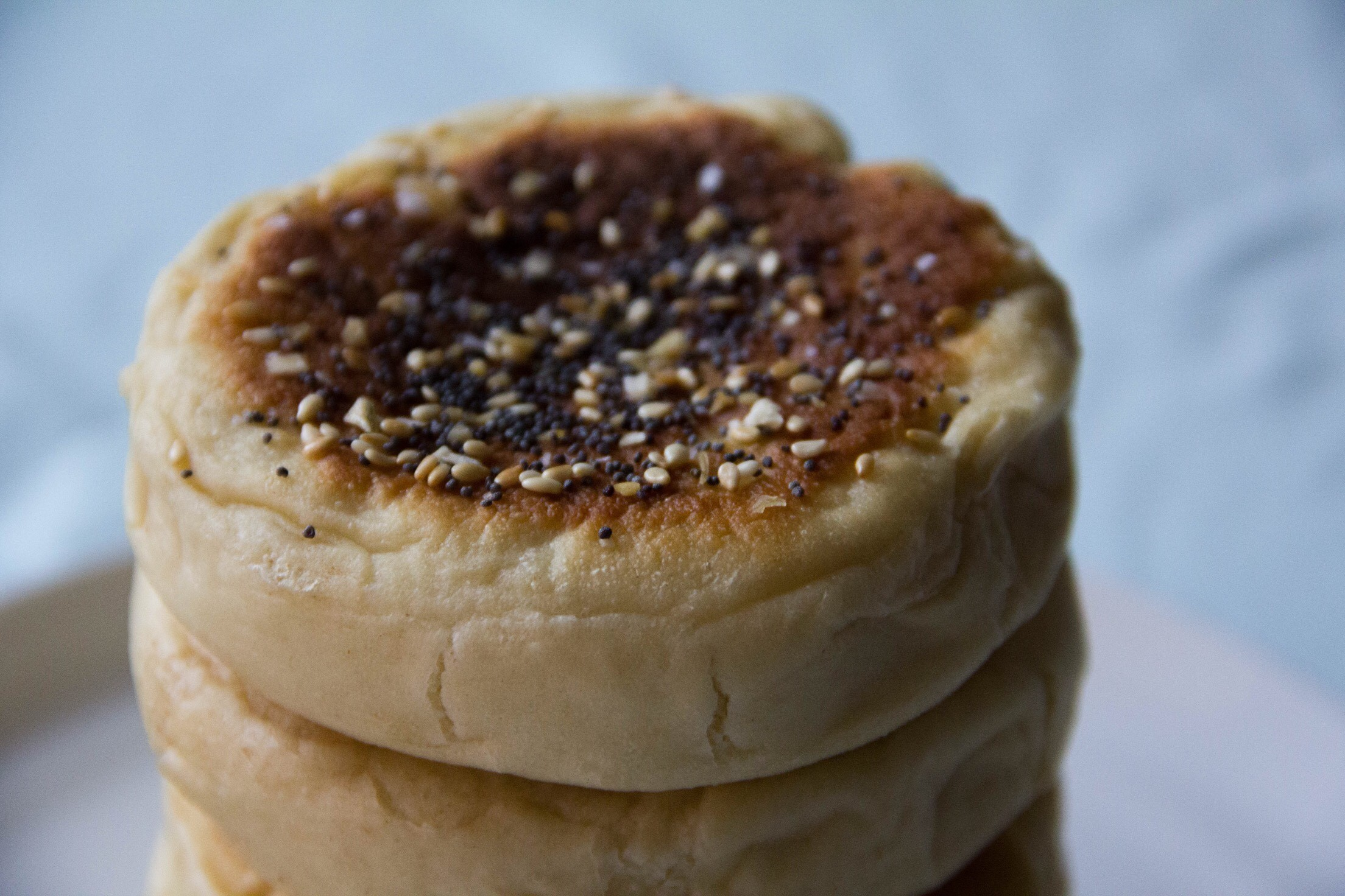 It's all about the Everything Bagel Seasoning with these English Muffins
