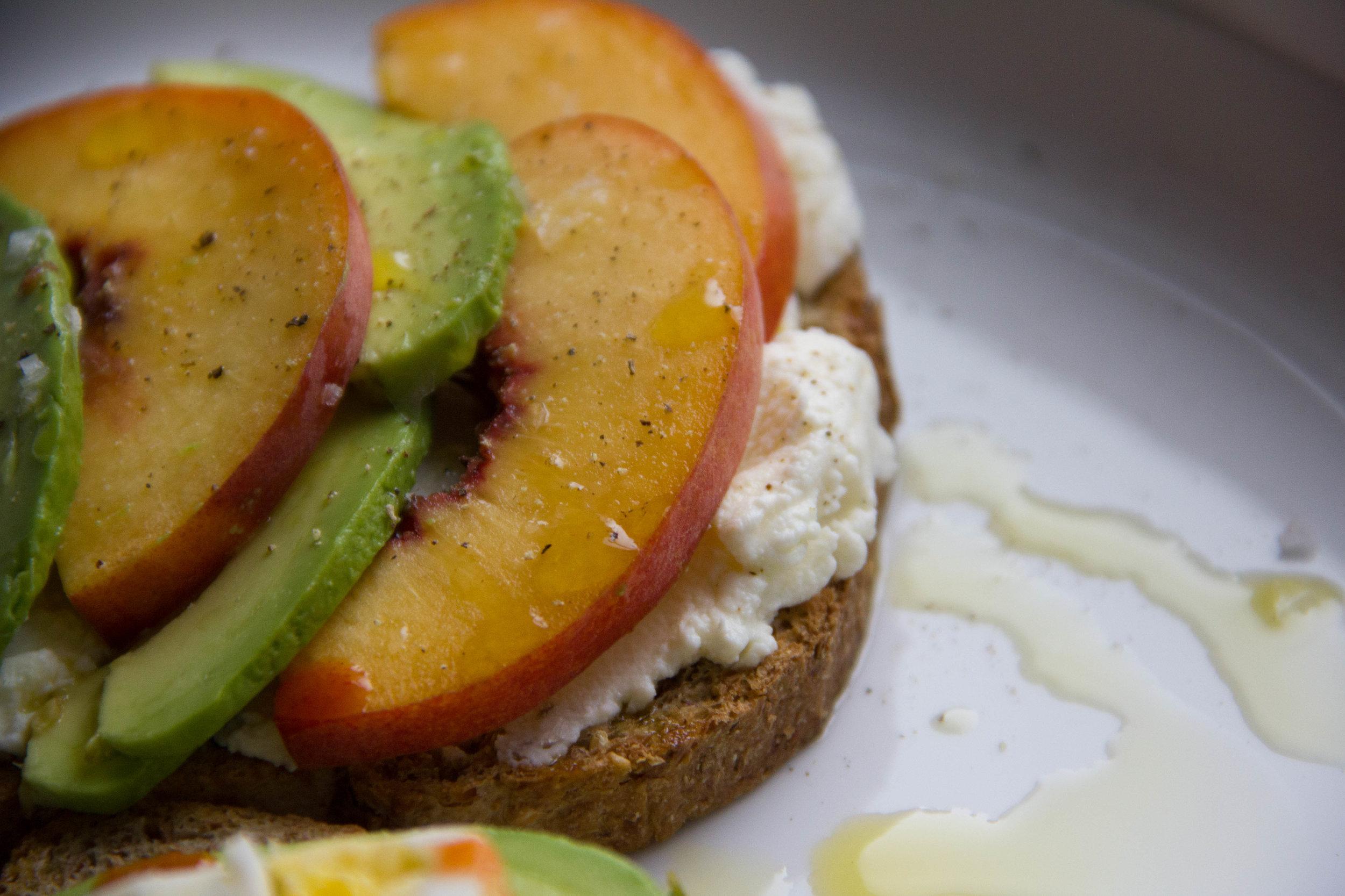 Peach & Ricotta Avocado Toast