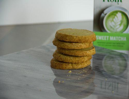 Matcha Pistachio Shortbread Cookie Recipe