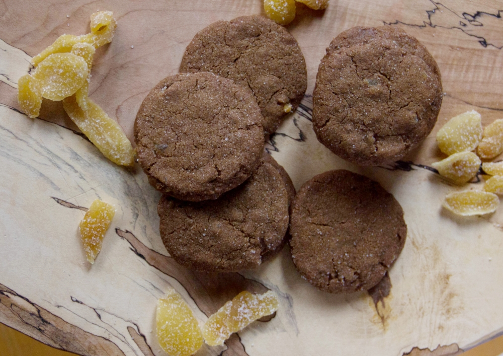 Crystallized Ginger Molasses Cookies Recipe