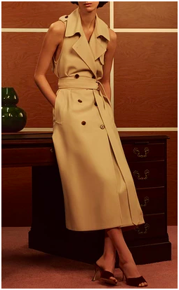 Donna Trench Wrap Dress, $1,300.