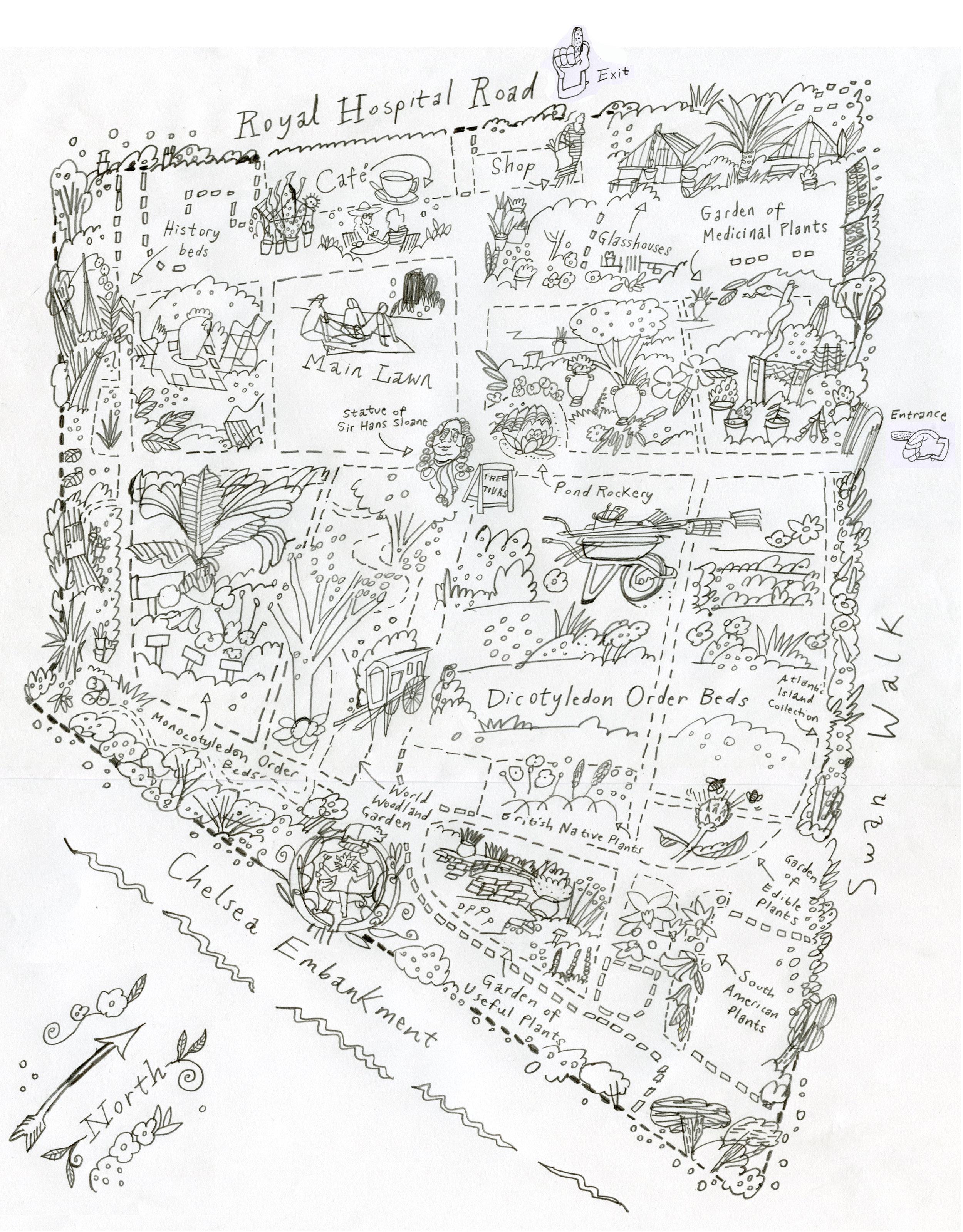 Initial draft sketch in pencil.