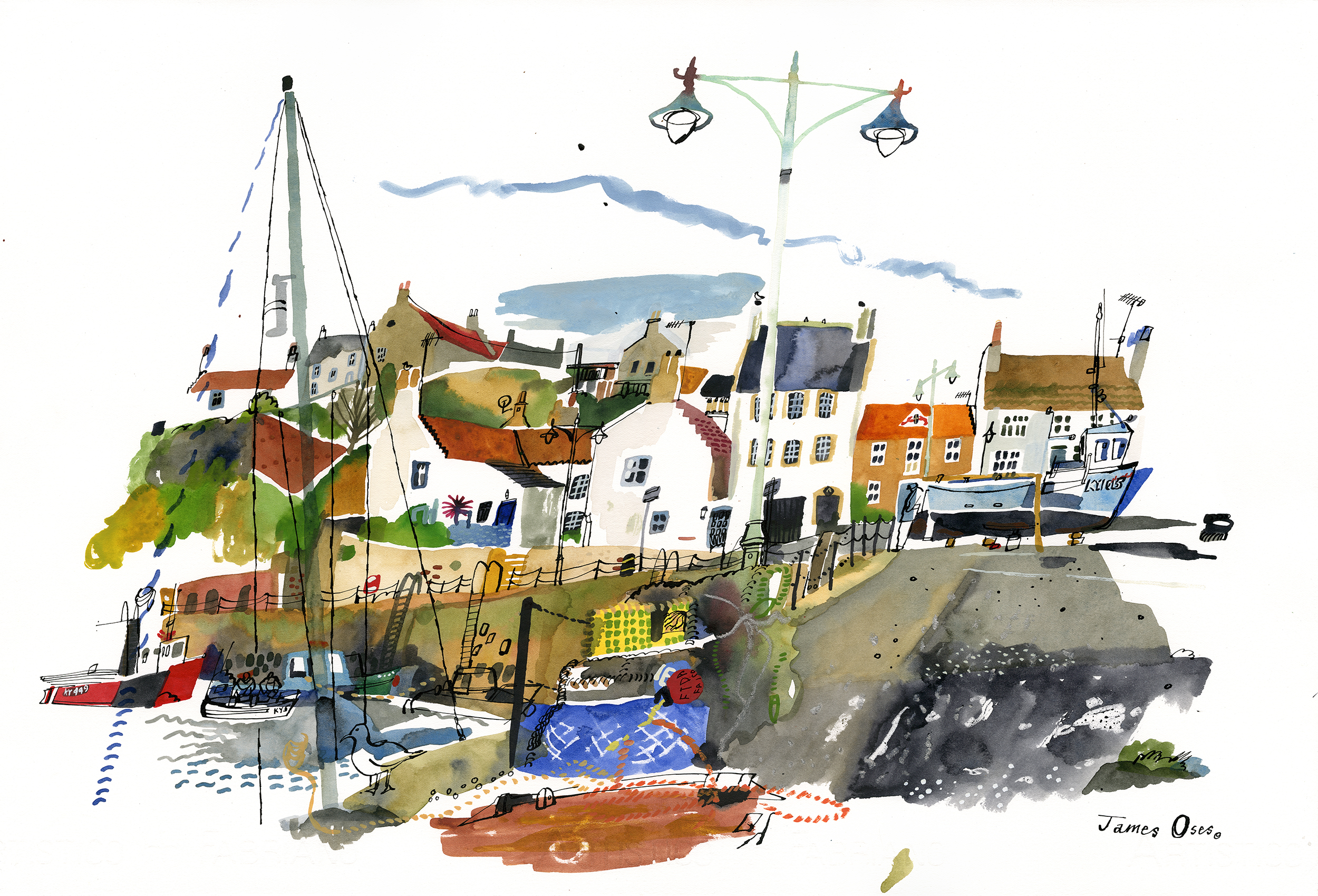 Harbour at Crail, Fife.