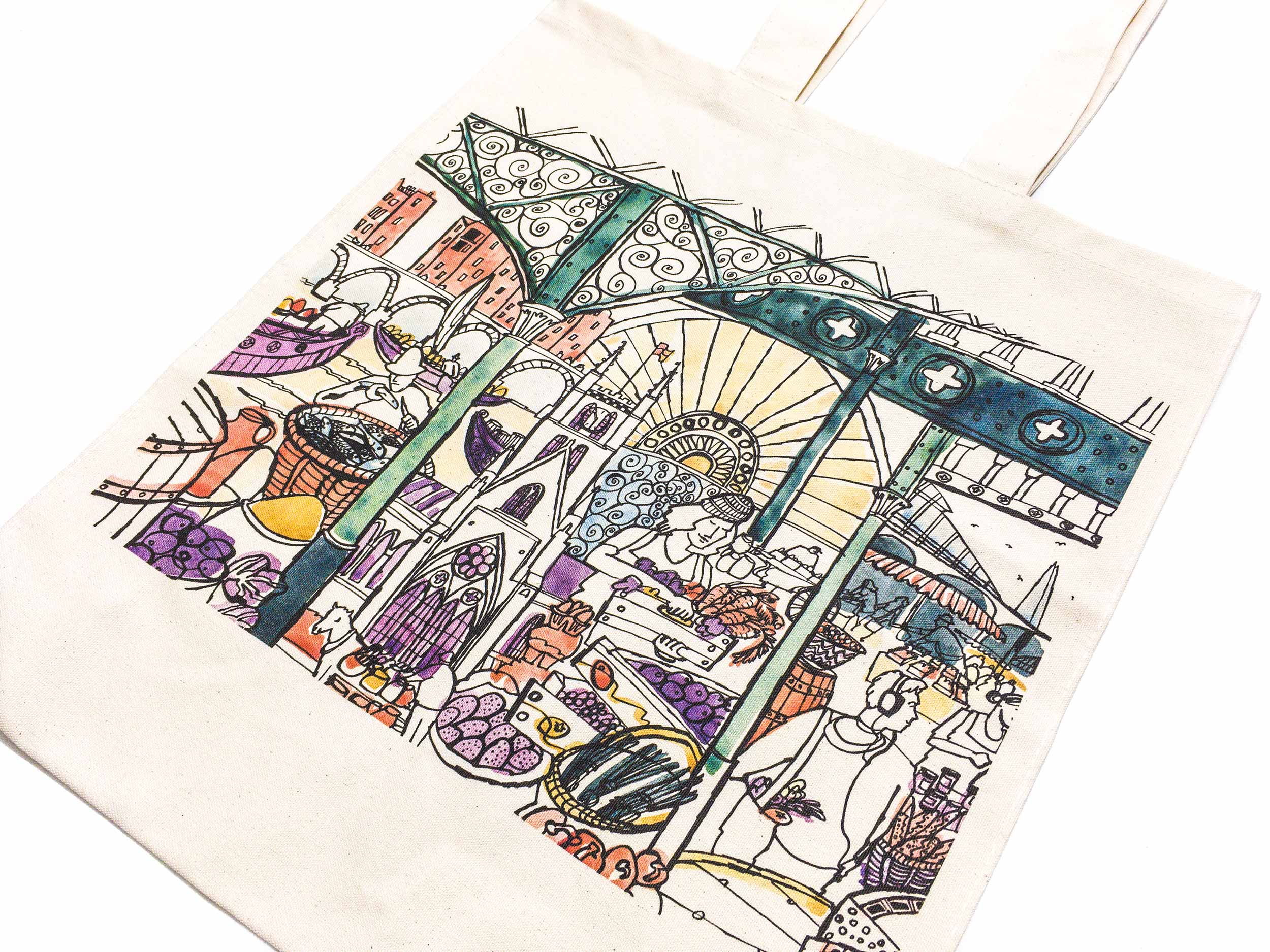 Borough Market at 1000 canvas bag by James Oses, image 1