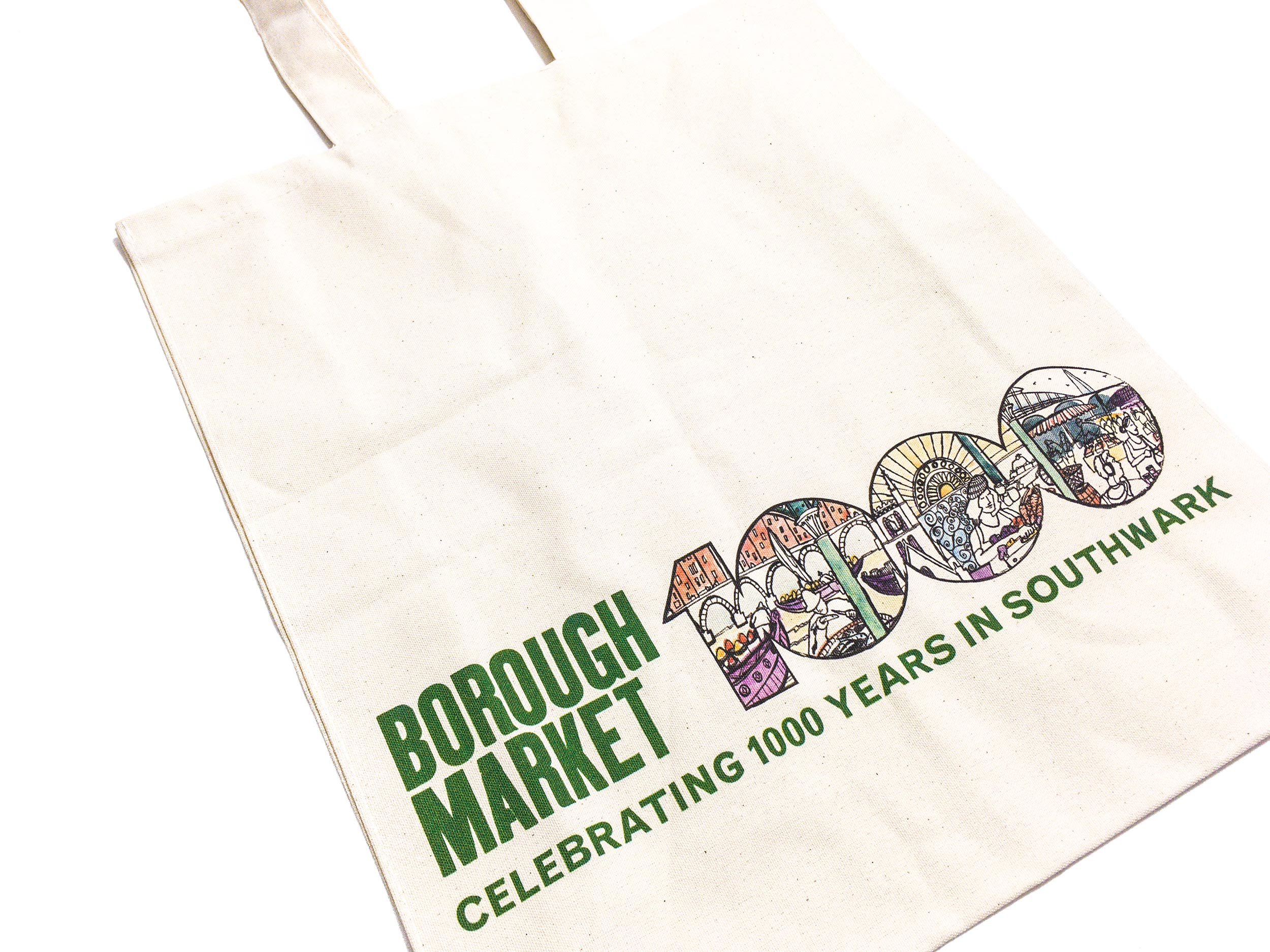 Borough Market at 1000 canvas bag by James Oses, image 2