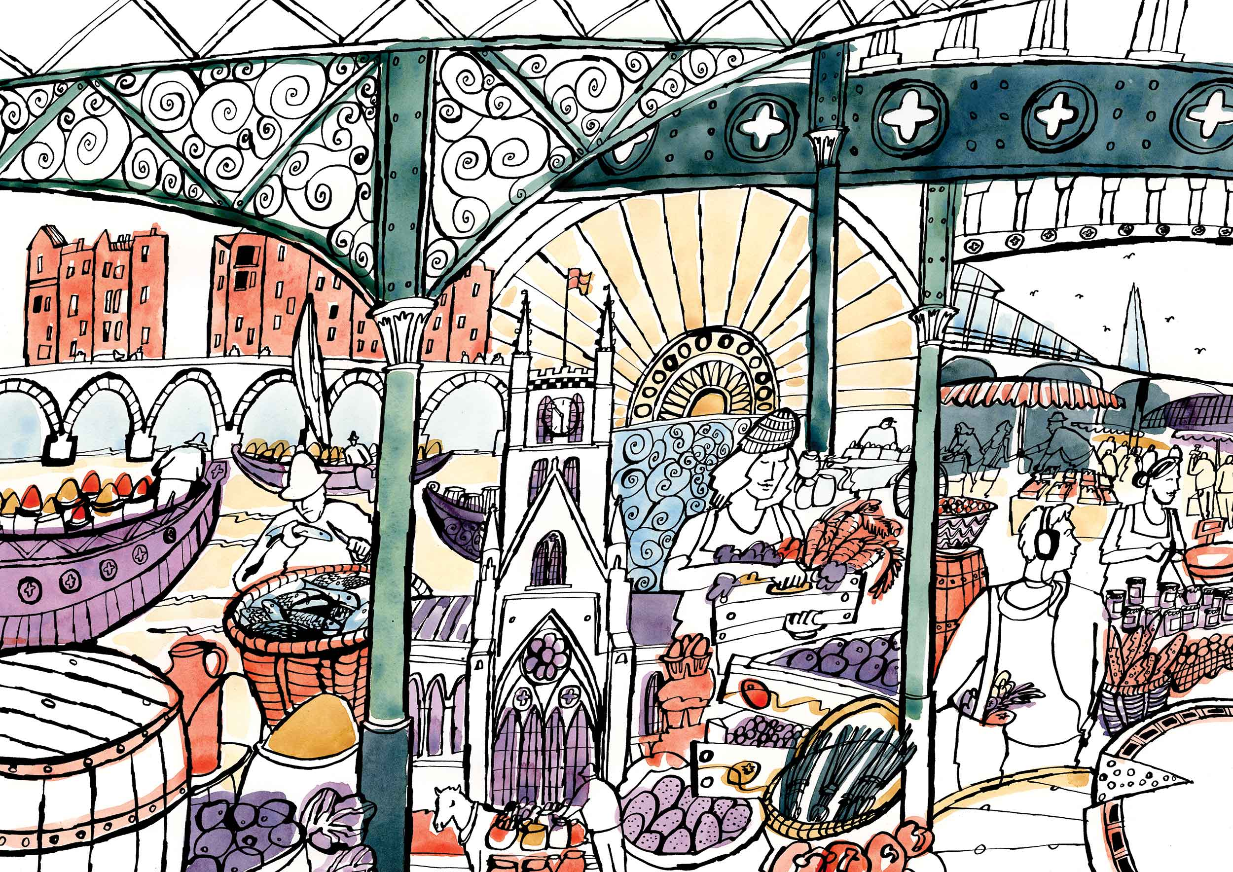 Borough Market at 1000 by James Oses