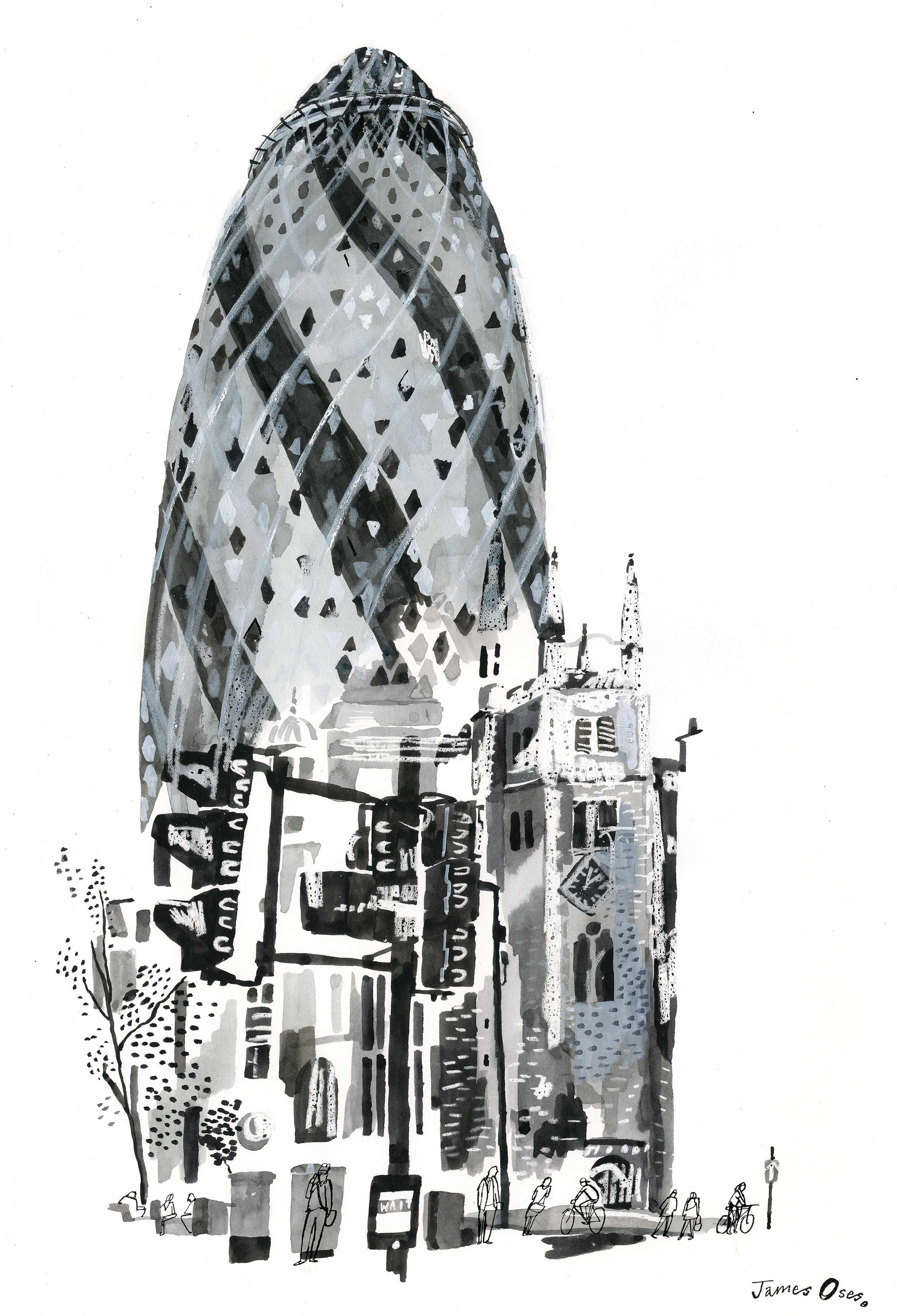 The Gherkin by James Oses