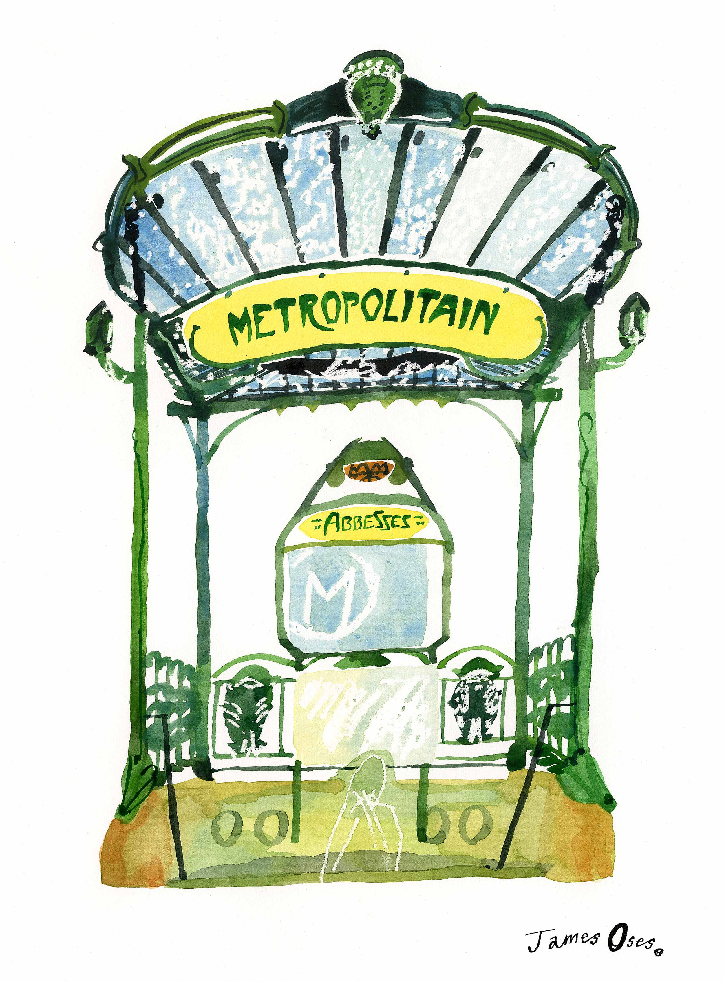 Abbesses métro station, Paris by James Oses
