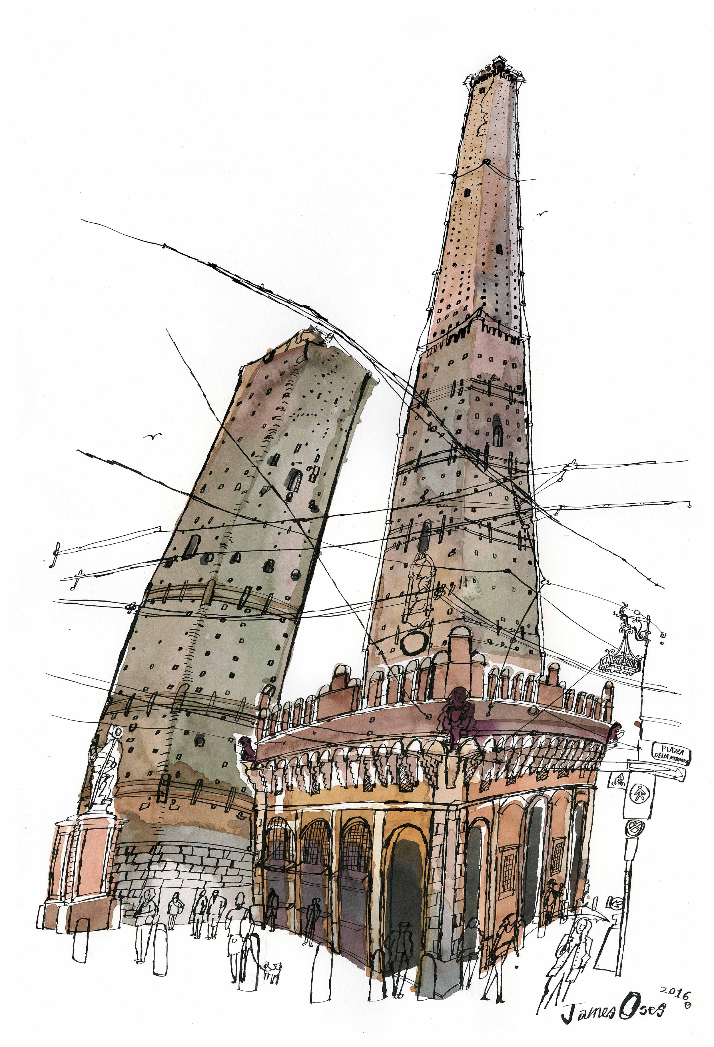 Bologna towers by James Oses