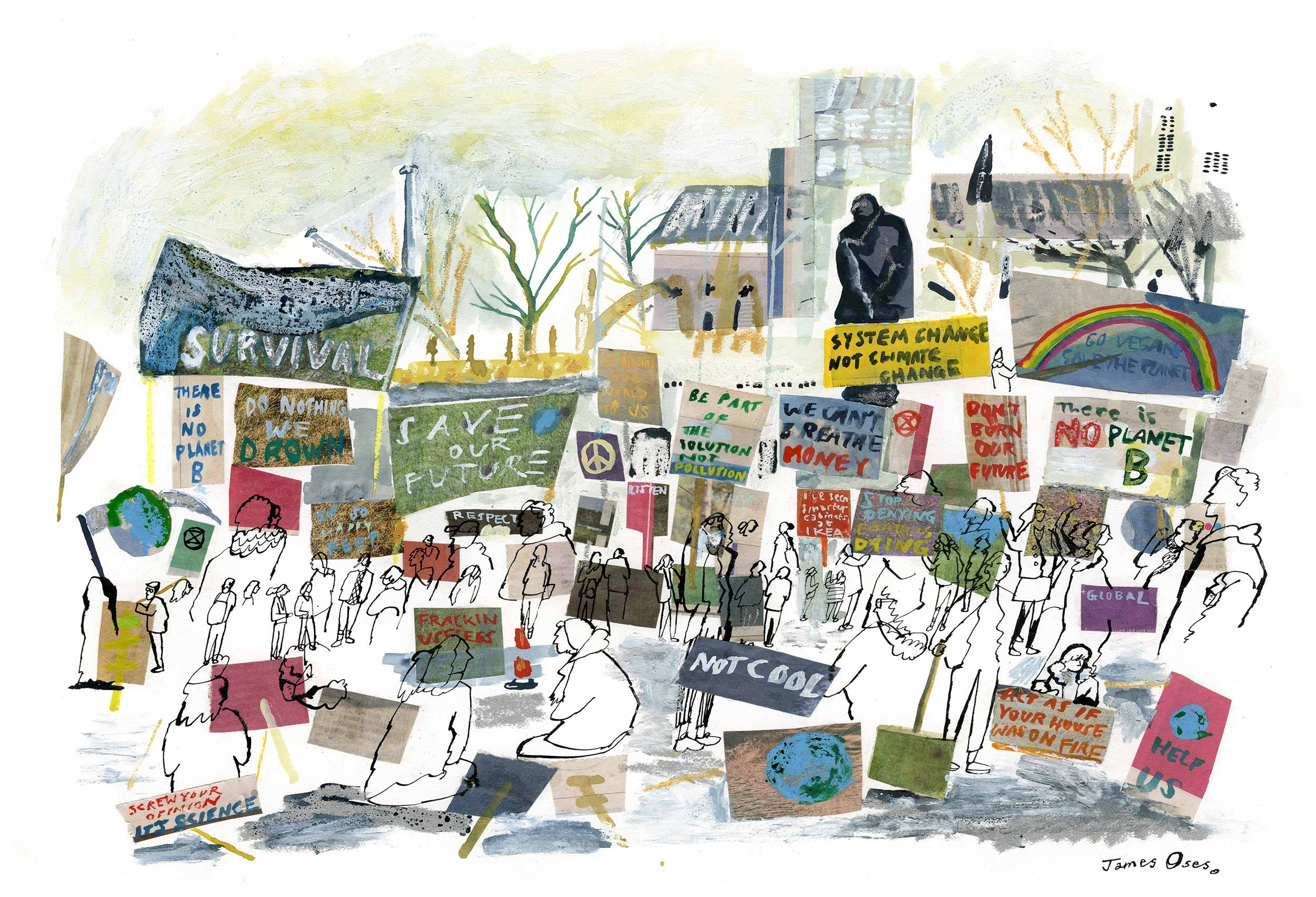 School strike for climate by James Oses