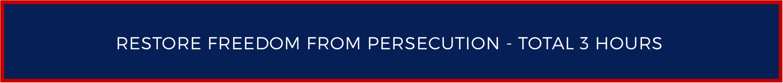 Restore Freedom From Persecution