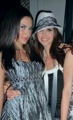 Candy Waltrip and Cassandra Ericson at Bebe Runway show circa 2009!