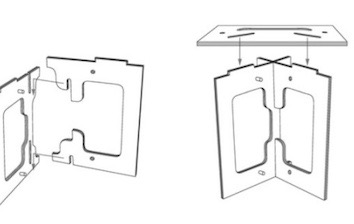 Sort of Ikea-ish but only 3 pieces, I can do this! [ Source ]