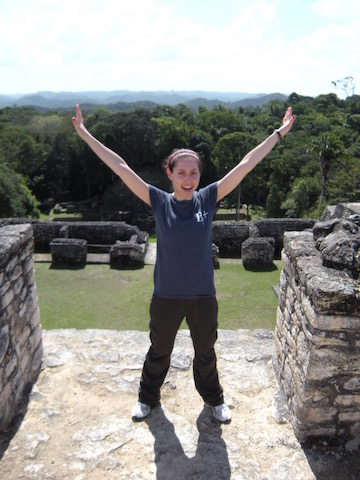 I know, I look awesome but I just climbed up a huge Mayan temple.
