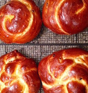 Mom's challah. Hers is the best. No contest.