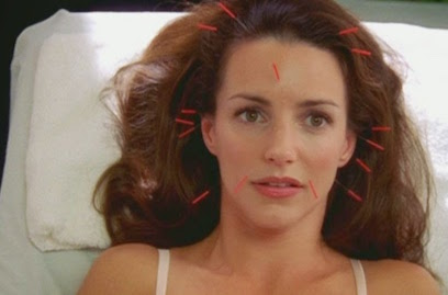 Whenever I think of acupuncture, this SATC episode is pretty much the first thing that comes to mind.   [Photo is from Sex & the City, owned by HBO]