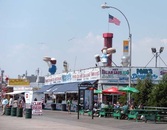 I've only been to Coney Island once, but to me, Coney Island is summer. Who's with me?