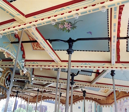 I think I was more into the actual carousel and its details than the ride.