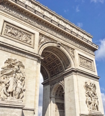 It's arc to believe but we didn't see the Eiffel Tower, only the Arc de Triomphe. Seriously, not just saying it for the pun of it :)