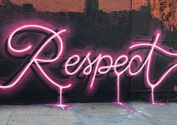 """""""R-E-S-P-E-C-T, find out what it means to me."""" Another gem from The Bushwick Collective."""
