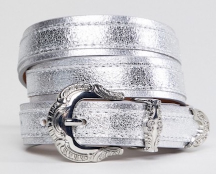 ASOS Silver Pieces belt
