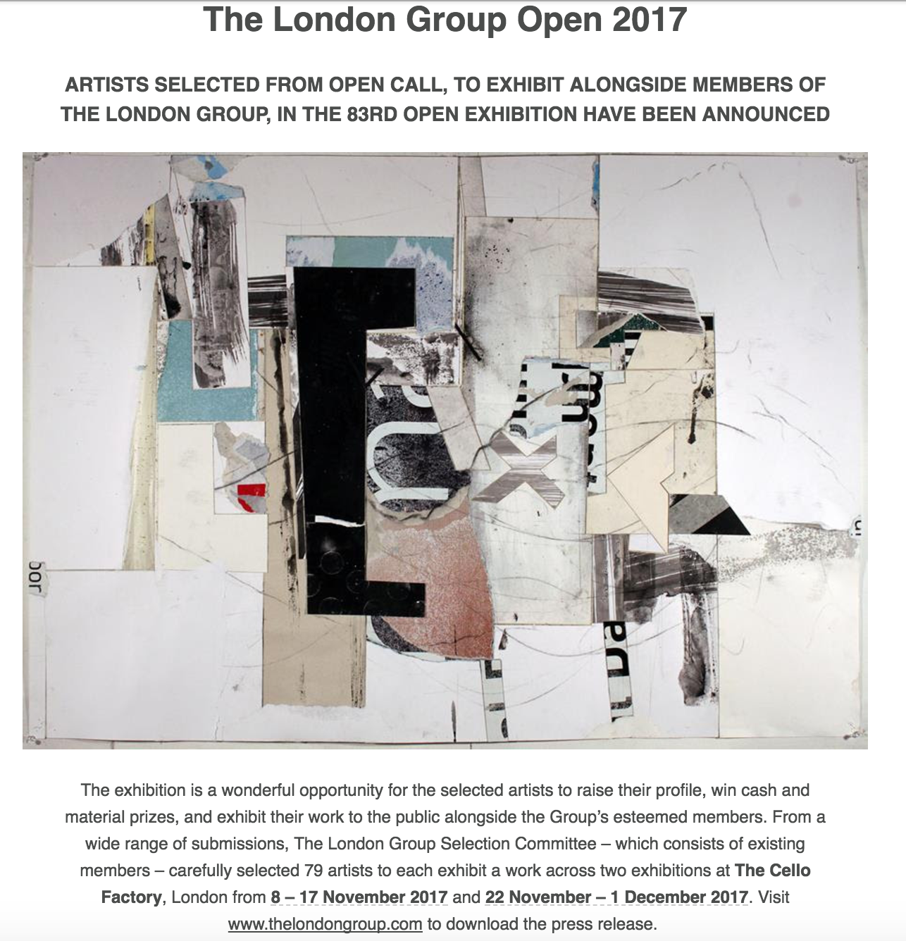 London Group Open