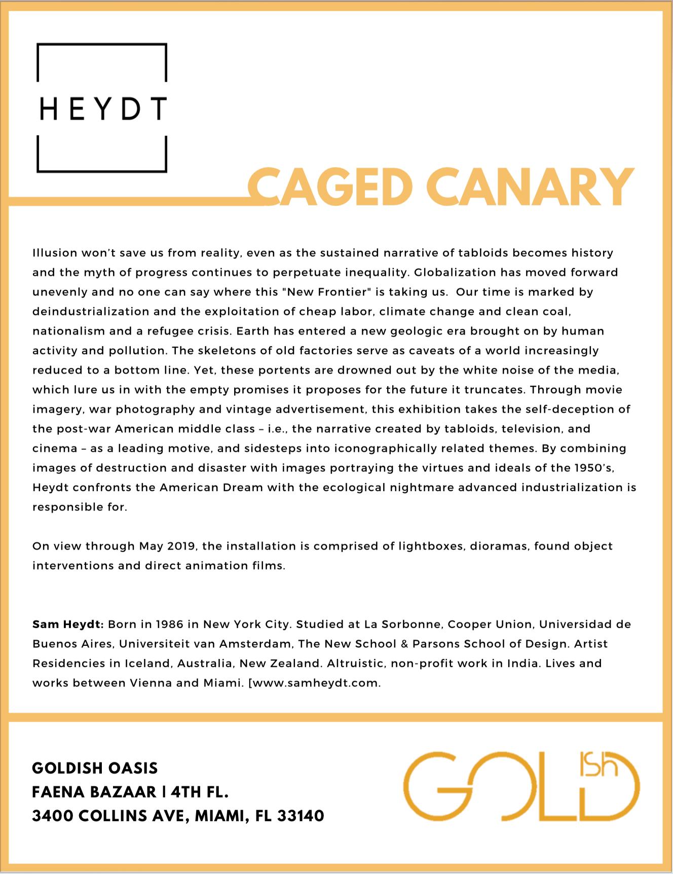 HEYDT - Press Release - Goldish Oasis