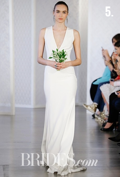 5. PLUNGING NECKLINE   A plunging neckline is the perfect amount of sexiness if you want to show skin on your wedding day. It is not too much and not too little.