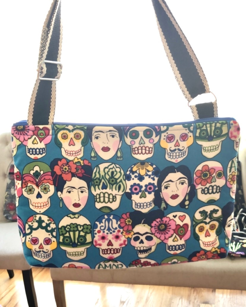 Frida and Dia De Los Muerto Shoulder bag from Patty's Bags