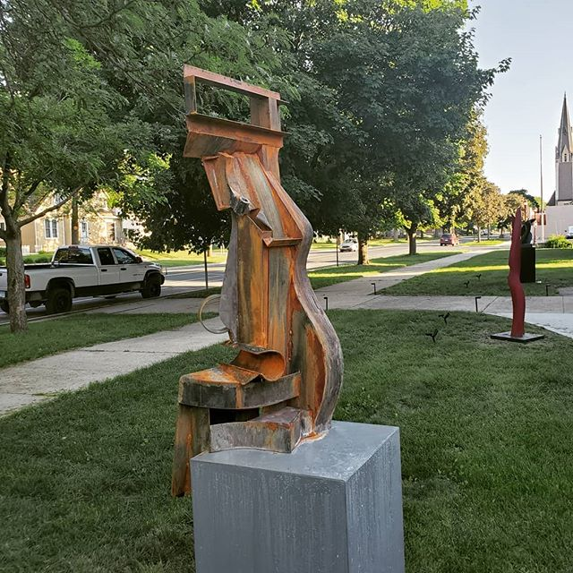 Opening Reception TOMORROW!! @7-9PM  A sneak peek at some work in Dave Hyduke and my show. Hope to see you there tomorrow evwning!  #abstractart #mnart #mnartist #anthonycaro #davidsmith #alexandercalder #mankato #saintpetermn #gustavusadolphus #artshow #winecheese #newartist